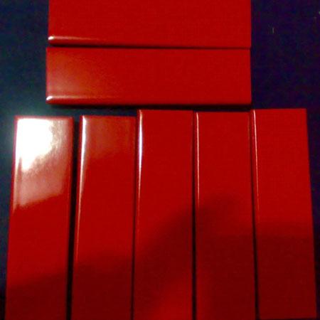 Ceramic glazing plate