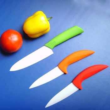 color curved handle ceramic knife