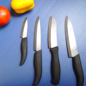 Black ceramic knife